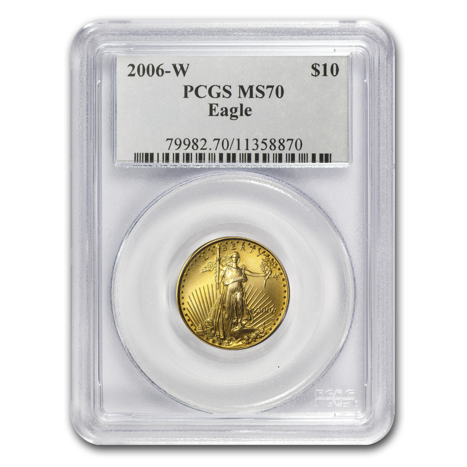 2006-W 1/4 oz Burnished Gold American Eagle MS-70 PCGS